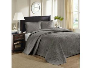 Avah Reversible Full/Queen Bedspread in Grey