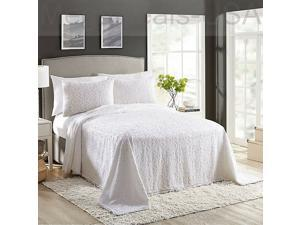 Avah Reversible Full/Queen Bedspread in White