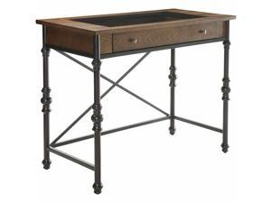 ACME Jalisa Glass Top Bar Table in Walnut and Black