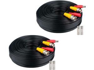 WildHD 2x200ft All-in-One Siamese BNC Video and Power Security Camera Cable BNC