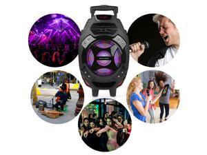 "Wireless V4.2 Portable 18"" Karaoke Party PA DJ SPEAKER SYSTEM With LED Mic"