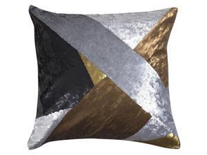 Jonathan Adler Nico Metallic Fractal Pillow