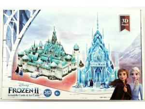 Disney Frozen 2 3D Puzzle - Arendelle Castle & Ice Castle, 343 Pcs