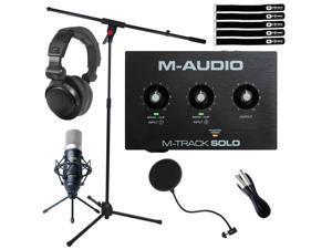 M-Audio M-TRACK SOLO USB Audio Recording Interface w Condenser Microphone