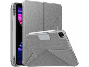 Moko Case For New Ipad Pro 11 3Rd Gen 2021 Origami Stand Cover W/ Pencil Holder
