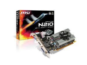 MSI Video Card N210-MD1G/D3 GeForce 210 1GB DDR3 64Bit PCI Express 2.0 DVI HDMI
