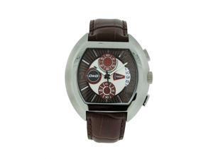 f16887fd Dolce & Gabbana Time DW0213 Men's Brown Leather Chronograph Date Tonneau  Watch