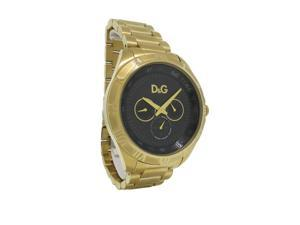 d0df647a Dolce & Gabbana Time DW0653 Men's Round Gold Tone Day & Date Roman Numeral  Watch