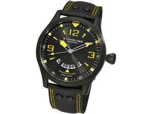 Stuhrling 141A 335565 Black Eagle Brigade Swiss Quartz Pilot Date Mens Watch f75e9d1a68b
