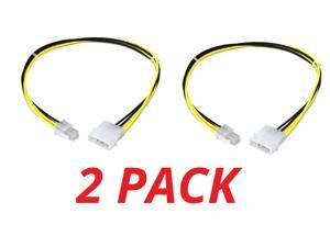 2x 4 Pin MOLEX to ATX P4 CPU 4Pin 12V PSU Power Supply Connector Adapter Cable