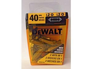 "DeWalt DW2002DEX20 Double Ended 1"" Phillips Bits 40 Tips"
