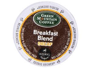 Green Mountain Coffee Decaf Breakfast Blend  (Light Roast Coffee), K-Cup Portion