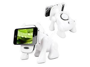 KOCASO Bluetooth Speaker FM Radio Stereo Bass White W/ Phone Holder Puppy Shape