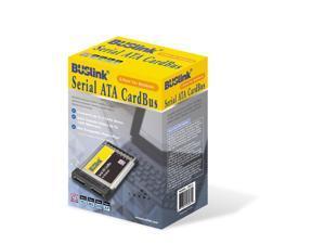 BUSlink 2 Port Serial ATA SATA Cardbus Card