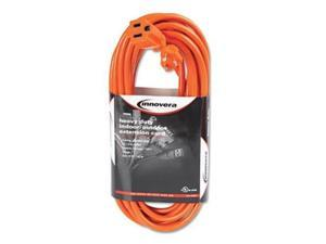 Innovera 72225 Indoor-Outdoor Extension Cord 25 Feet Orange