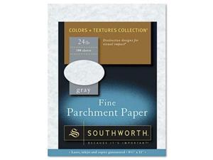 Southworth P974CK336 Parchment Specialty Paper 24 lbs. 8.5 x 11 Gray 100-Box