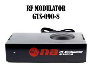 RF Modulator Universal Audio Video RCA Output to F Type Coaxial Signal Converter