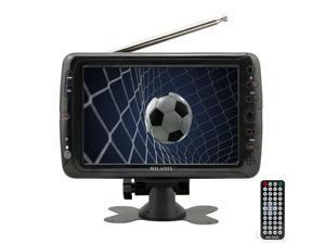 "Milanix MX7 7"" Portable Widescreen LCD TV with Detachable Antennas, USB/SD Card"