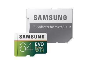 Samsung 64GB 100MB/s U3 MicroSDXC EVO Select Memory Card with Adapter
