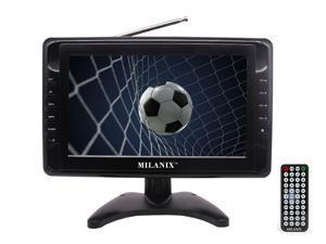 """Milanix MX10 10"""" Portable Widescreen LCD TV with Detachable Antennas, USB/SD Car"""