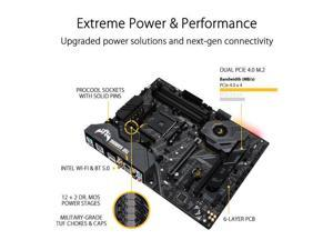 Asus TUF GAMING X570-PLUS (WI-FI) Socket AM4/ AMD X570/ DDR4/ SATA3&USB3.2/