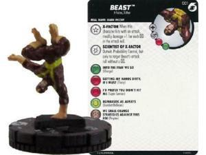 001 Beast  - FAST FORCES	 -  NM W/ Card Xaviers School Heroclix