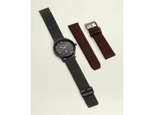 Kenneth Cole NEW YORK  KC50882011 Gunmetal-Tone Interchangeable Band Watch