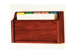 Wooden Mallet Square Bottom Legal Size File Holder, Mahogany