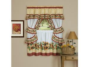 Ergode Black Eyed Susan Cottage Window Curtain Set - 57x36 - Spice