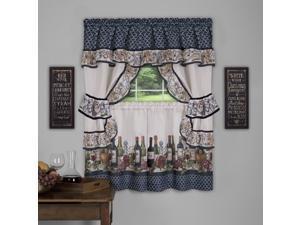 Ergode Chateau Cottage Window Curtain Set - 57x36 - Navy