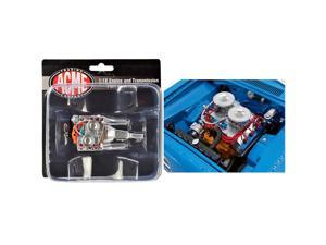 """Engine and Transmission 426 Hemi Replica from \1969 Plymouth Hemi Barracuda \Street Fighter\"""" 1/18 by ACME"""""""""""""""