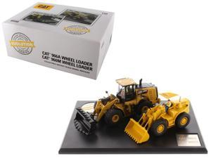 Diecast Masters 85558 1 isto 50 CAT Caterpillar 966A Diecast Model Wheel Loader - Circa 1960-1963 & 966M Wheel Loader-Current with Operators