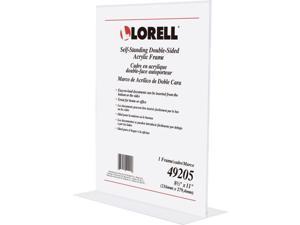 "Lorell Double Sided Frame Acrylic 8.5""x11"" Clear 49205"