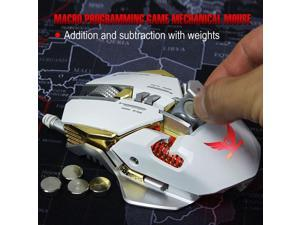 Professional Gaming Mause Mechanical Mouse RGB 3200DPI 7 Buttons USB Wired black