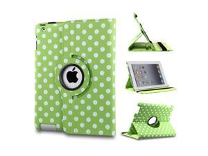 PU Leather Smart Case 360 Degree Rotating Stand Protective Cover Auto Sleep Wake for Apple iPad 2/3/4