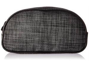 DII Black Round Half Cosmetic Bag