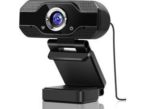 1080P HD Webcam  with Microphone - 2MP PC Skype Camera  for Video Calling, YouTube and Recording for Computer Laptop Desktop