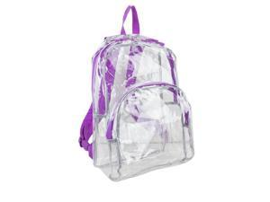 Eastsport 2303242 Clear All-Day Backpack, Grape - Case of 12 - 12 Per Pack
