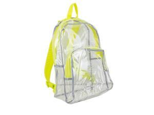 Eastsport 2303247 Clear All-Day Backpack, Yellow - Case of 12 - 12 Per Pack
