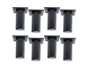 3 Inch Round Furniture Legs Aluminium Alloy Sofa Couch Cabinet Wardrobe Worktop Shelves Feet Replacement Height Adjuster Black Set of 8
