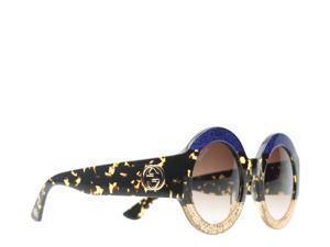 cc5cf6574a6 Gucci GG 0084S Blue Avana Brown Women s Sunglasses ...