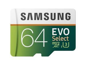 Samsung 64GB 100MB/s (U3) MicroSDXC EVO Select Memory Card with Adapter (MB-ME64
