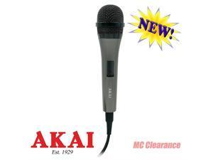 Akai Dynamic Microphone Unidirectional KS721XB with 10 Ft. Cord Black/Dark Grey