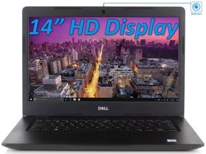 "Dell Vostro 3481 14"" HD Notebook, Intel Dual-Core i3-7020U 2.3GHz, 8GB RAM, 128GB SSD, HDMI, VGA, Card Reader, Wi-Fi, Bluetooth, Windows 10 Pro"