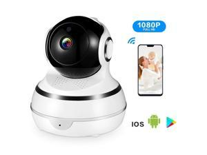 SECshot Wireless 1080P Security Camera, WiFi Home Surveillance IP Camera  for Baby/Elder/Pet/Nanny Monitor, Pan/Tilt iPC, Two-Way Audio & Night  Vision