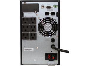MINUTEMAN UPS EC1000LCD ECOMPASS SERIES: TRUE SINE WAVE, ONLINE UPS, TOWER FORMAT, 1000VA/900W, 120V, (6