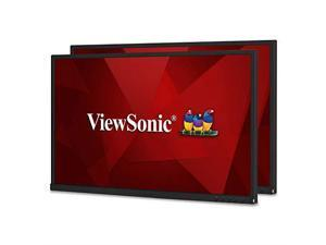 "ViewSonic VG2448_H2 24"" Full HD 1920 x 1080 HDMI DisplayPort VGA USB 3.0 Hub Built-in Speakers Dual Pack Anti-Glare Backlit LED IPS Monitor"