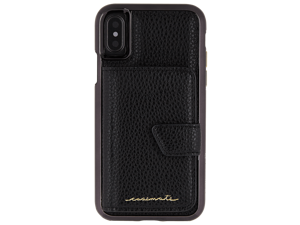 Case-Mate Compact Mirror Series Case Cover for Apple iPhone X 10 - Black