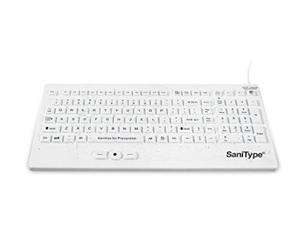 SaniType Washable Rugged-Point Heavy-Duty Hygienic Keyboard KBSTRC105SPIW
