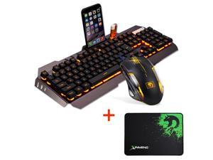M398 Usb Backlit Ergonomic Gaming Keyboard + Gamer PC Mouse Sets + Mouse Pad